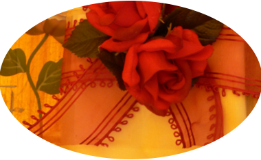 latin rhythm, velvet roses, handpainted glass,
