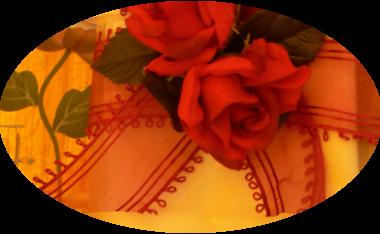 latin rhythm, velvet roses, handpainted glass,
