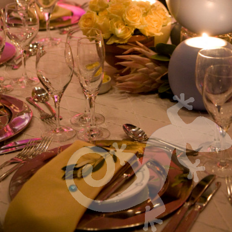 80th Birthday Event George Bizos Nelson Mandela table setting decor