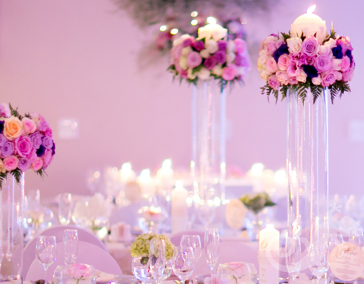 I do...first wedding portfolio,candles, pink roses, exquisite events