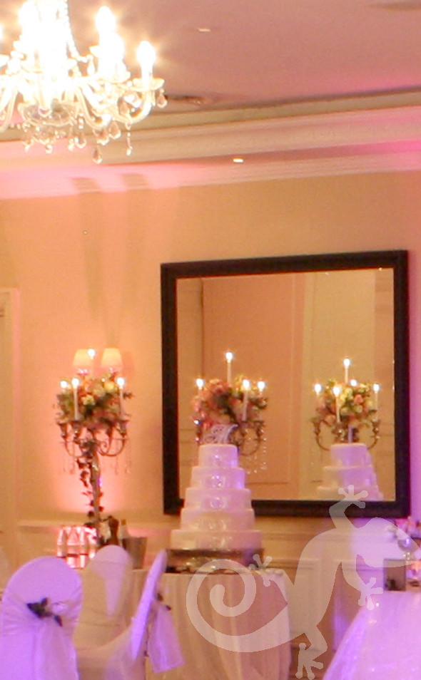 I do...wedding portfolio,candles, pink roses, wedding cake, white wedding