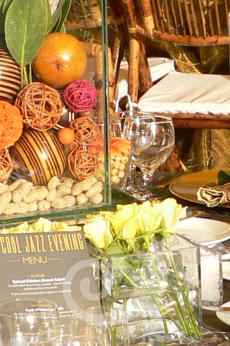 MTN end of year, corporate, table setting, earth tones