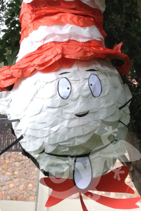 Cat in the Hat, Baby Shower, pinata