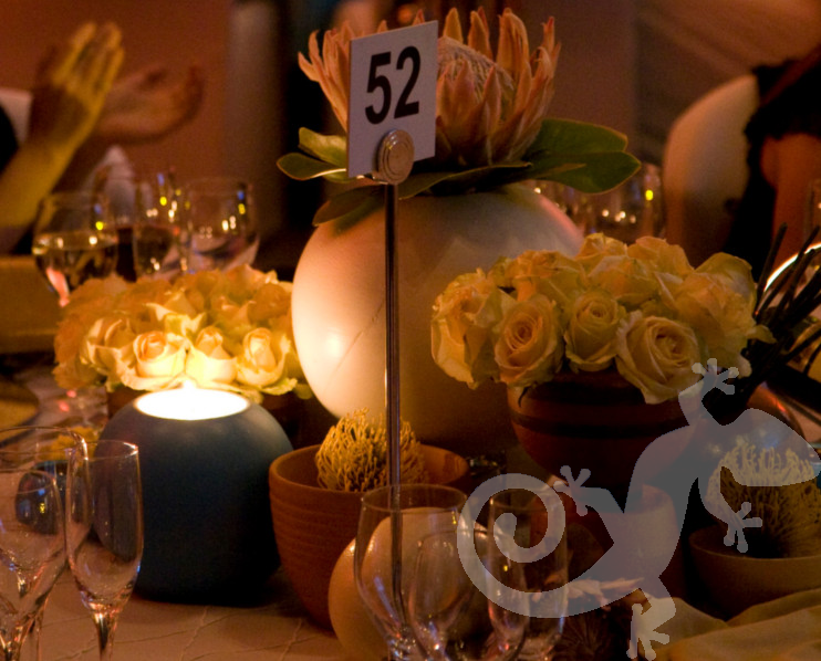 80th Birthday Event George Bizos Nelson Mandela table decor