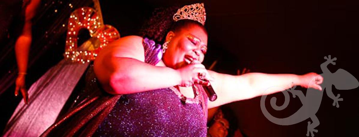 Glam disco singer, entertainment, show stopper