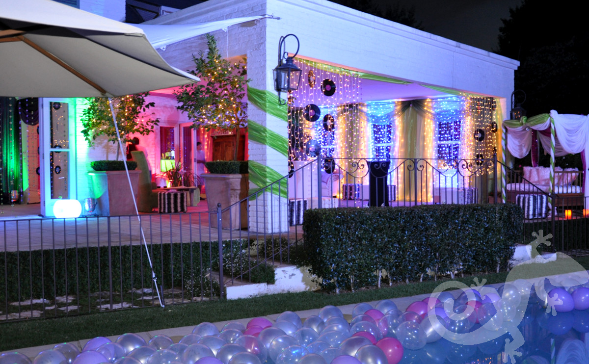 discotheque theme, house party, lighting