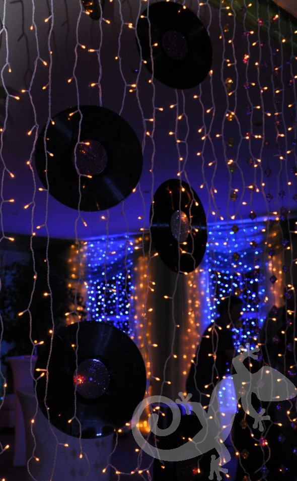 Glam disco theme, decor detail