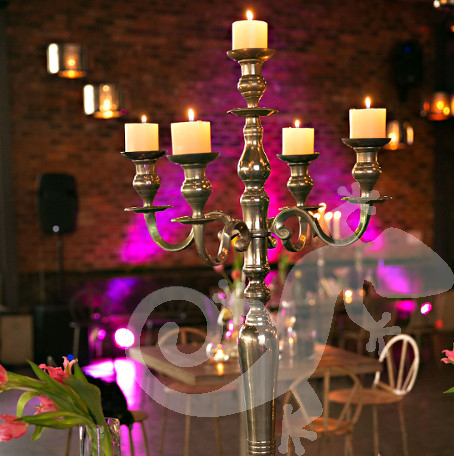 Engagement floral, she said yes, silver candelabrum