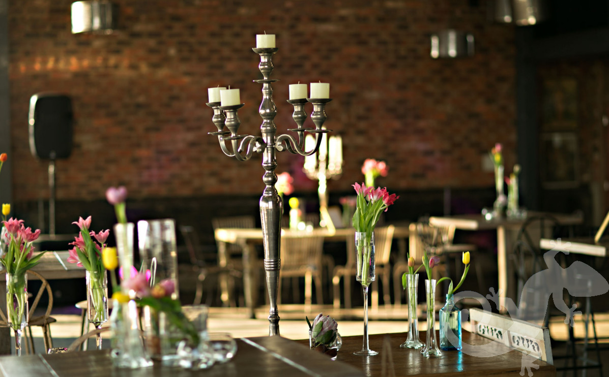 Engagement floral, she said yes, silver candelabrum, table setting