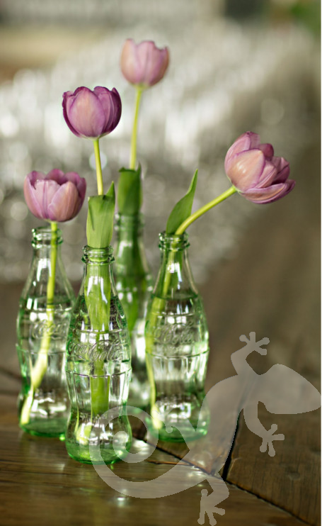 Engagement Party, I said yes, Joburg chic, coke bottle tulips