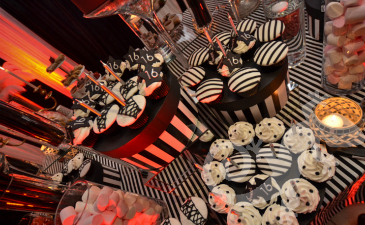 Great Gatsby, sweet, sweet 16th, dessert buffet