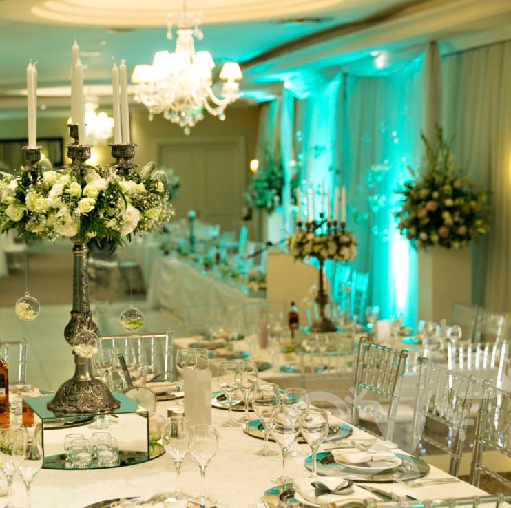 Baroque candleabrum, beautiful wedding table